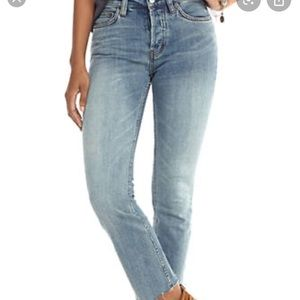 FREE PEOPLE NWOT far from any road cropped jean